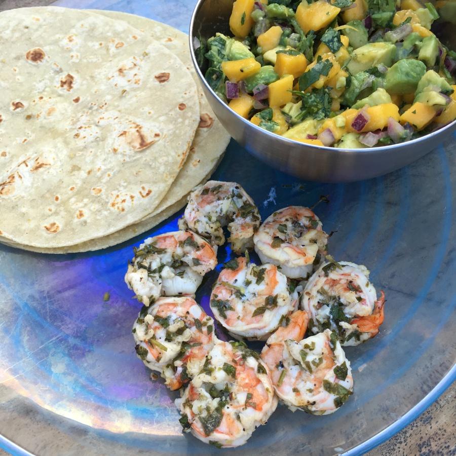 beaufitul my healthy dish shrimp scampi tacos recipe 3