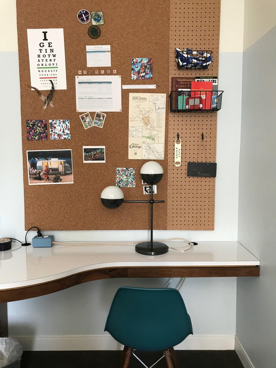 Calistoga Motor Lodge- room desk