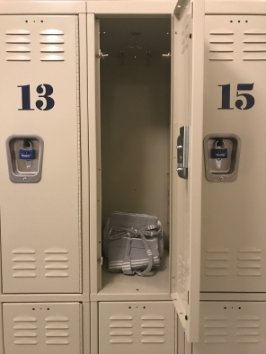 Industrially cool lockers.